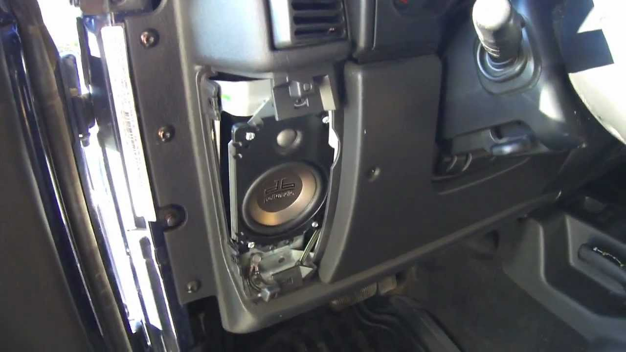 Jeep wrangler tj speakers size