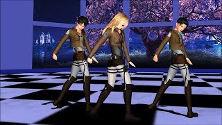 【MMD】Liar Dance ~Eren,Levi and Me (motion DL) ライアーダンス