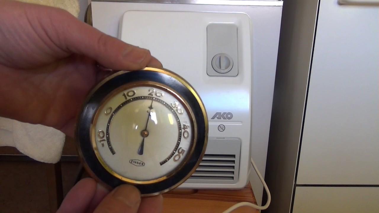 TEST Funktionsprüfung AKO Bad Schnellheizer H 260/4 Heizlüfter,Fan Heater