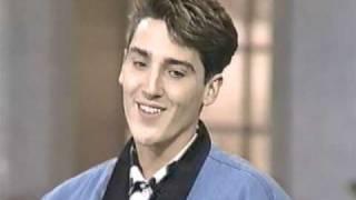 Jonathan Knight on Talk Show 1991