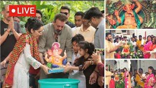 Superb message of Ganpati Visarjan 2018 live | shilpa shetty - Raj kundra | Sanjay dutt- Manya dutt