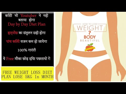 WEIGHT LOSS – Indian Diet Plan to lose weight fast in Hindi | Easy Meal Plan – Lose Belly Fat