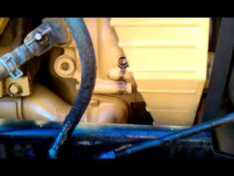 Caterpillar C15 Accert water pump leaking - YouTube
