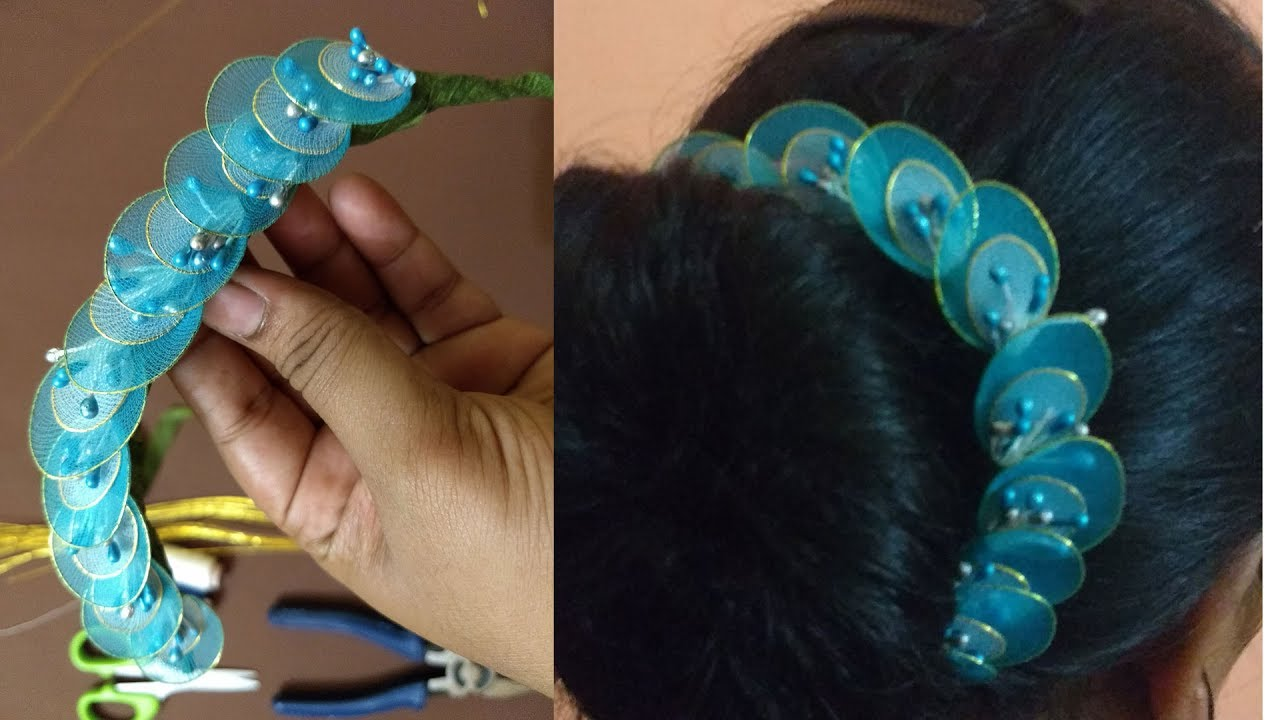How To Make Hair Brooch At Home For Wedding Making