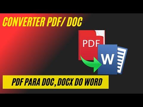 PDF para DOCX - Online Converter