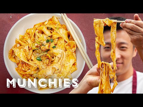 How To Make Hand Ripped Noodles with Xi'an Famous Foods