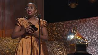 Cécile McLorin Salvant Wins Best Jazz Vocal Album | 2019 GRAMMYs Acceptance Speech