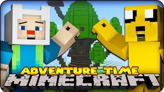 Minecraft - ADVENTURE TIME - Finn, Jake and The land of Oooo ! #1