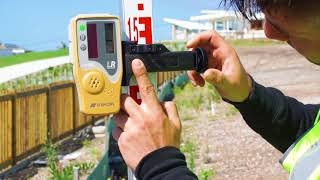 How to manual slope match with a laser level