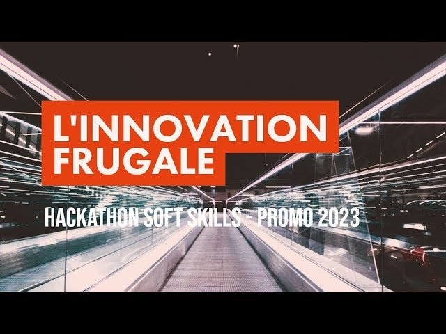 1000 étudiants planchent sur l'innovation frugale