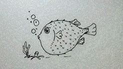 Cara Menggambar Ikan Arwana