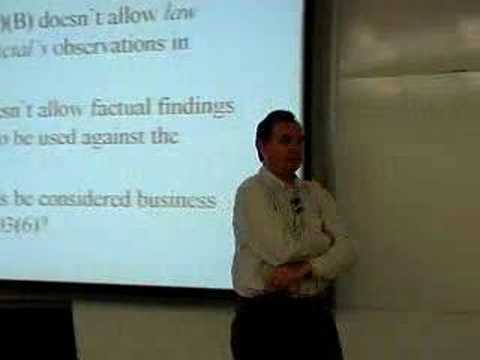 LECTURES: Professor Tom Lyon's Evidence Class 2/28/07