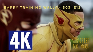 Barry and Wally Race Scene, Barry Training Wally - The Flash S03E12  HD