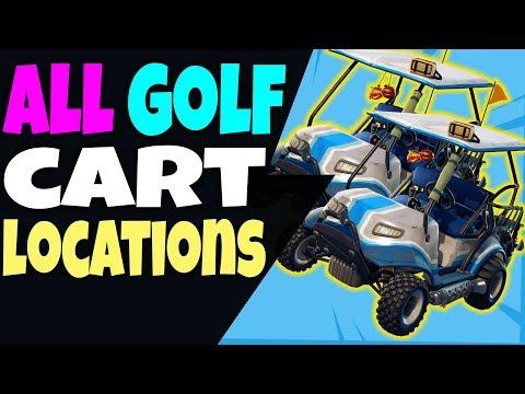 Fortnite ALL GOLF CART LOCATIONS In Season 5 - ALL ATK CART LOCATIONS Where Are Golf Carts