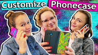 Wir designen unsere HANDYHÜLLEN! Customize Phonecase Challenge Kathi vs Bianca vs Eva