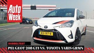 Toyota Yaris GRMN vs. Peugeot 208 GTi - AutoWeek Dubbeltest - English subtitles