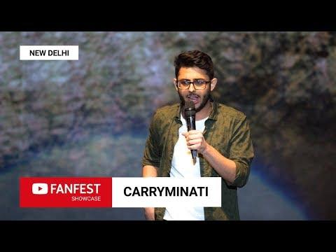 CARRYMINATI @ YouTube FanFest Showcase New Delhi 2018