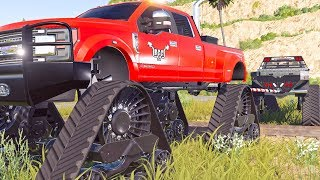 TRUCK VS. TRUCK TUG OF WAR | FORDZILLA | FARMING SIMULATOR 2019