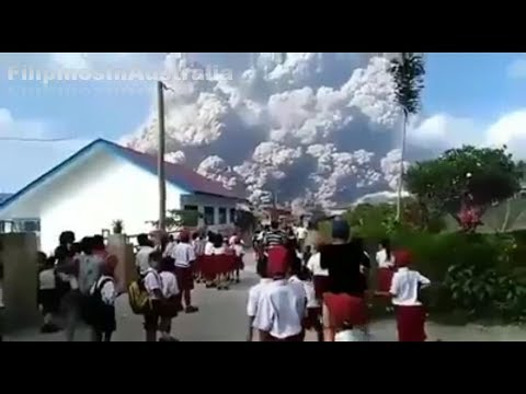 Update Mount Sinabung Volcano Eruption, Sumatra Island Indonesia