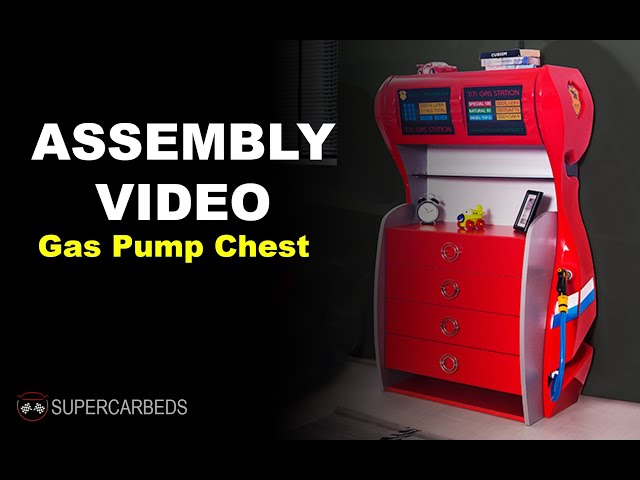 Assembly Video for Supercarbeds - Gas Pump Chest (Kids Laundry)