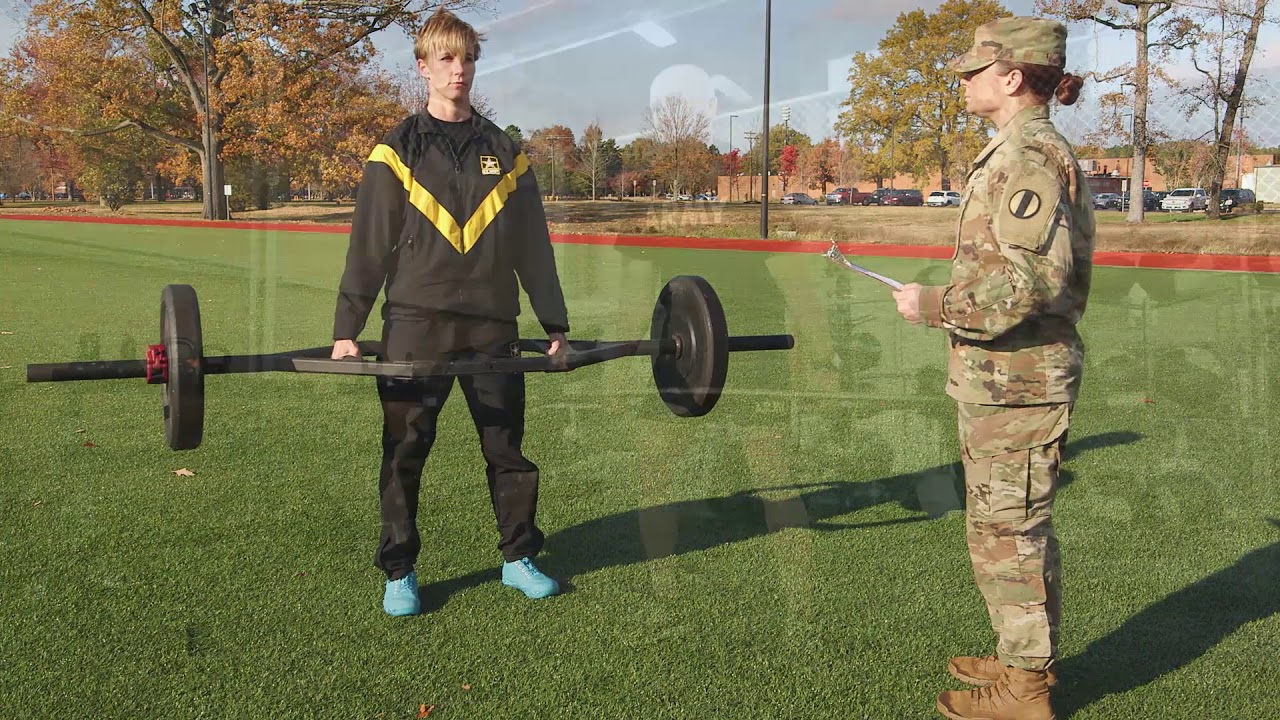 The 3 Repetition Maximum Deadlift is the first event. The three repetition maximum deadlift is a muscular strength test that represents movements required to safely and effectively lift heavy loads from the ground, jump, bound and tolerate landing.