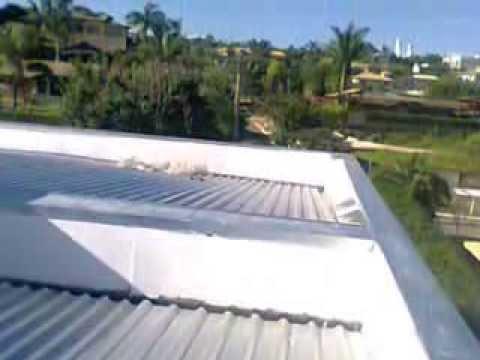telhado embutido de zinco aldeias do lago - YouTube