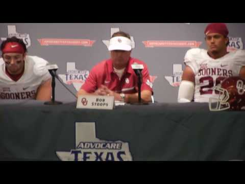 Oklahoma Sooners HC Bob Stoops: Post game press conference after Advocare Texas Kickoff 2016