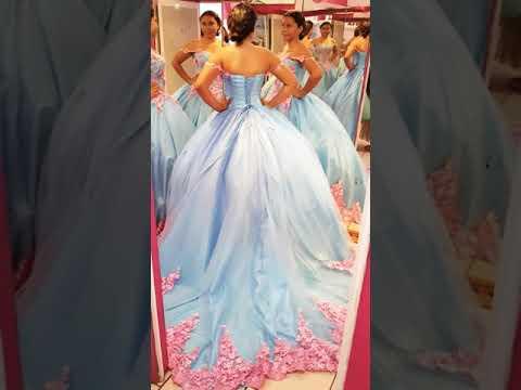 Vestido De Flores Para Xv Anos Youtube