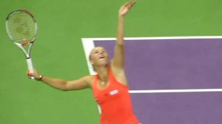 Caroline Wozainak in WTA Dohas Open 2011 Final Thumbnail