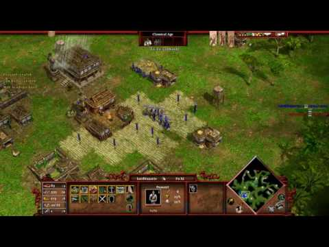 Age of Mythology Tale of the Dragon Gameplay 1vs2 Hard Ai