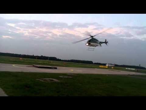 D-HHBB bei der Landung am General Aviation Terminal Hannover
