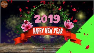 Special Flowers Animated Happy New Year 2019 Green Screen And Footage