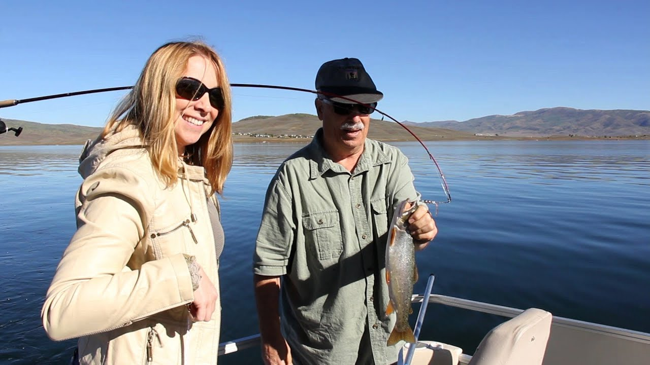 utah fish finder tv show strawberry reservoir youtube