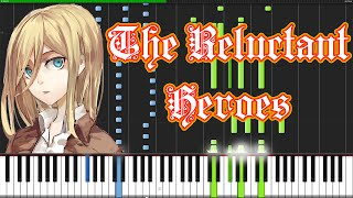 The Reluctant Heroes - Shingeki no Kyojin [Piano Tutorial] (Synthesia) // Animenz