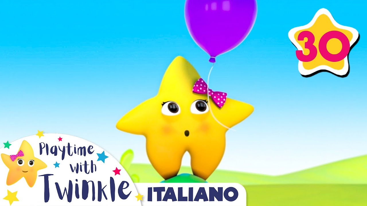 Palloncini 1-5 - 30 minuti di Canzoncine per bebè | Twinkle Italiano