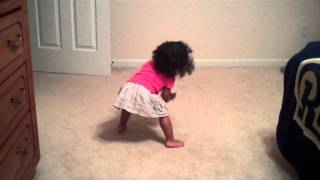 18 month old dancing to her favorite song by Beyonce thumbnail
