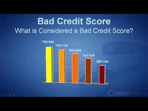 What Is Considered Bad Credit Score