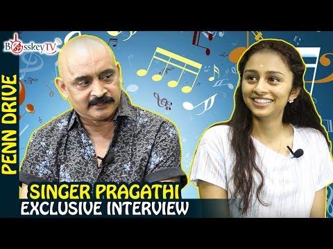 Bala's New Film Heroine Super Singer Pragathi Exclusive Interview   Penn Drive   Bosskey TV