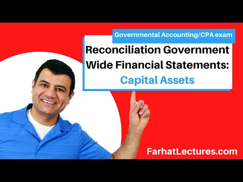 Reconciliation government wide financial statements capital assets CPA exam FAR  P 1