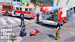 GTA 5 Firefighter Mod New Seagrave Engine Responds To Its First Emergency Call
