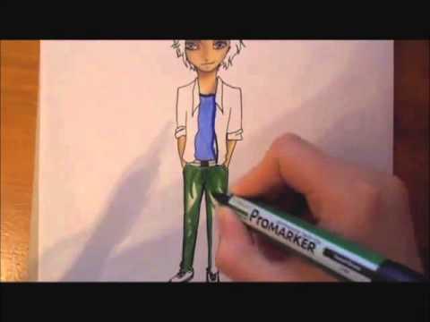 Dessin Personnage Manga Mise En Couleur Youtube