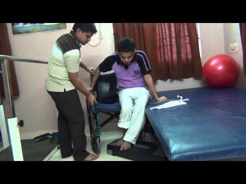 Spinal Cord Injury Wheel Chair To Bed Transfer Youtube