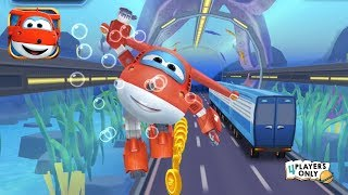 Super Wings : Jett Run #5 | JETT: Welcome to the SEAWORLD! By Huale