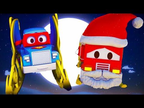 Carl el Super Camión y El camión del Duende Gigante en Auto City | Especial Navidad