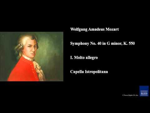 Wolfgang Amadeus Mozart, Symphony No. 40 in G minor, K. 550, I. Molto allegro