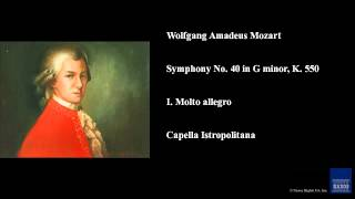 Wolfgang Amadeus Mozart Symphony No 40 in G minor