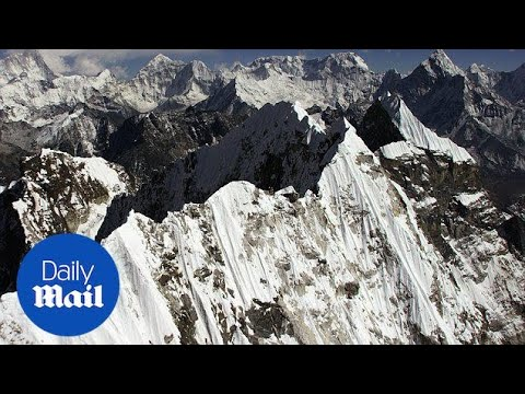 Stunning aerial footage shows Himalayan Mountains from the top - Daily Mail