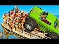CARRO VS 1.000.000 DE PESSOAS no GTA V !!!