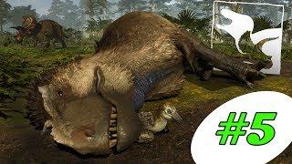 حياة الديناصورات | تم دعس التي ركس!! Saurian #5
