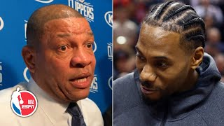 Doc Rivers: Kawhi's video tribute, Raptors ceremony was the best I've ever seen | NBA on ESPN
